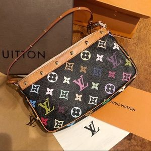 LOUIS VUITTON black multi pouchette shoulder bag